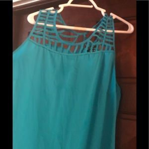 Georgette blue cami